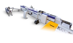 Inline, modular and multifunctional book finishing line.